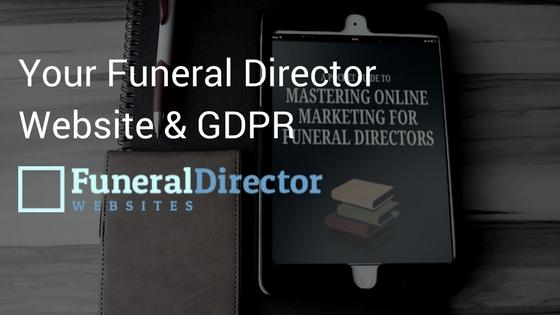 Funeral Director Website GDPR