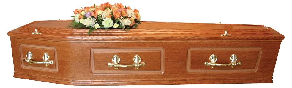 Traditional Oak Coffin
