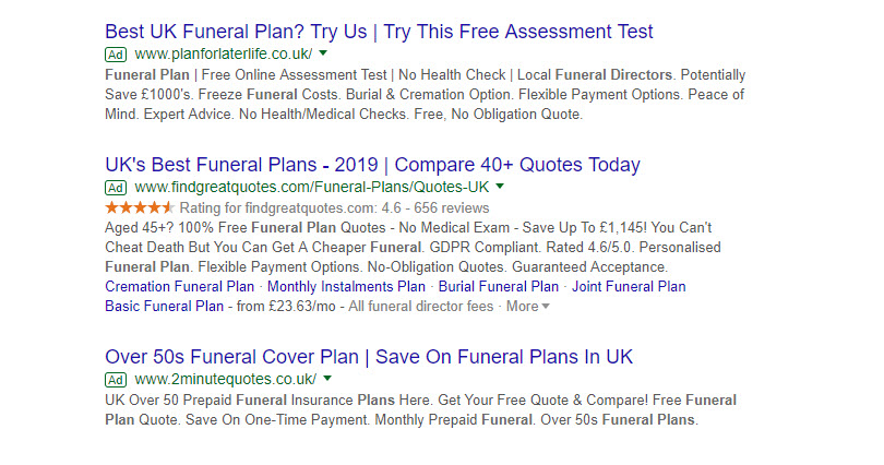 PPC1 funeral plans