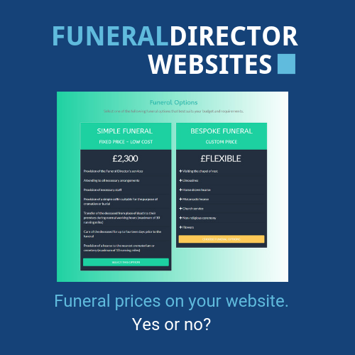 Funeraldirector pricing