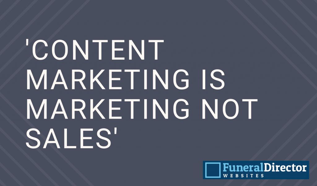 Content marketing is 'marketing not sales'