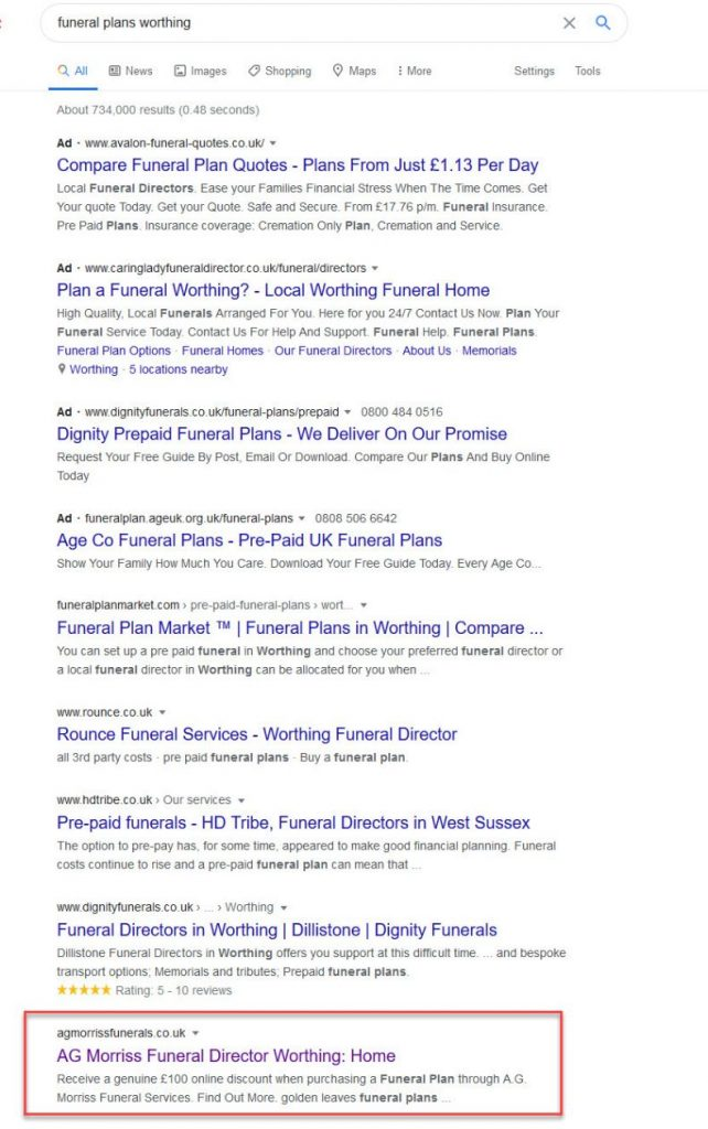 page1 result funeral plans worthing 2020-07-03 Friday
