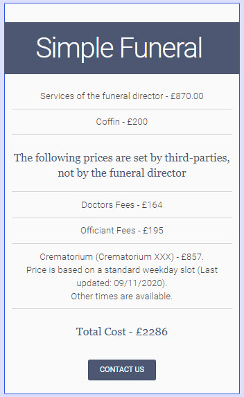 SAIF Webinar - Talking About Funeral Costs table
