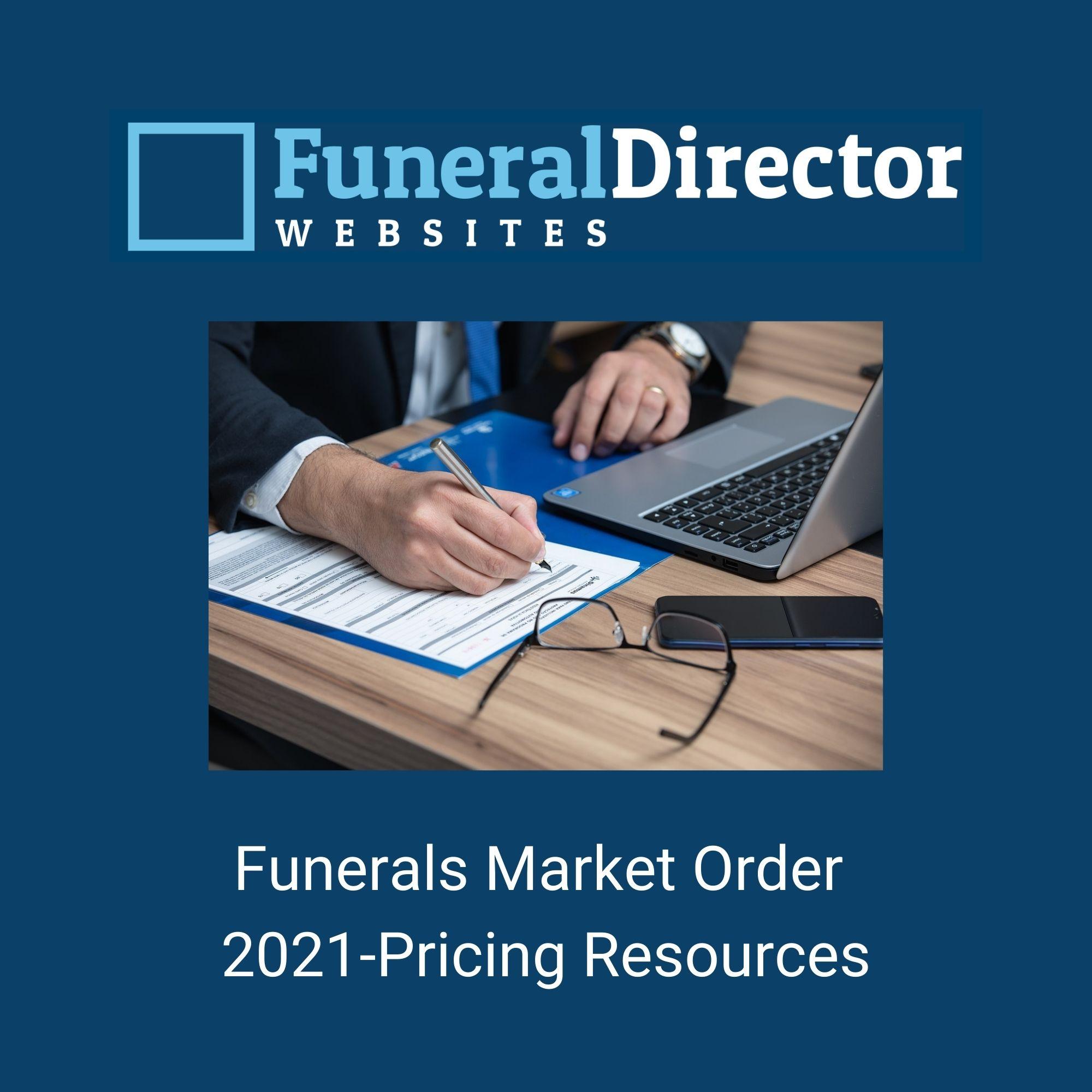 Funerals Market Order 2021-Pricing Resources