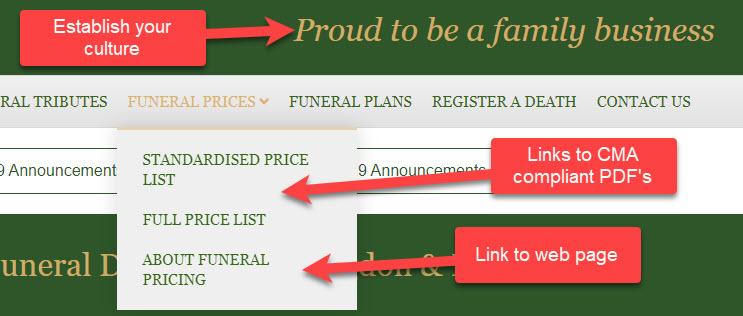 CMA Funerals Market Order 2021